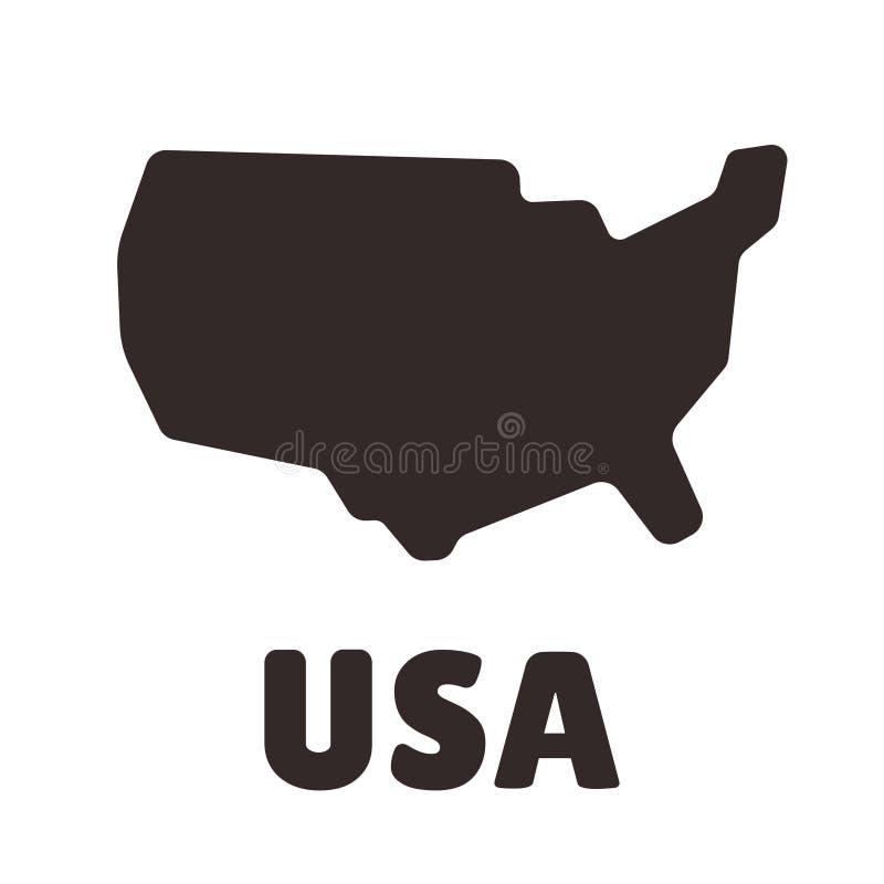 USA kształta ikona ilustracja wektor