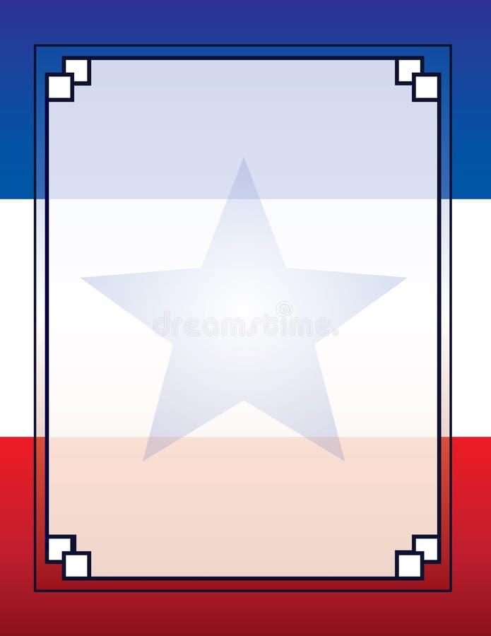 USA Kuba Puerto Rico Flag Template Poster Background stock abbildung