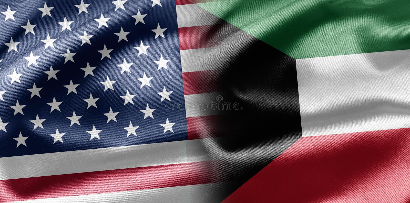 Download USA and Kuwait stock illustration. Image of america, travel - 28584952