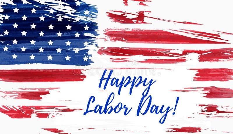 USA Labor day background royalty free illustration
