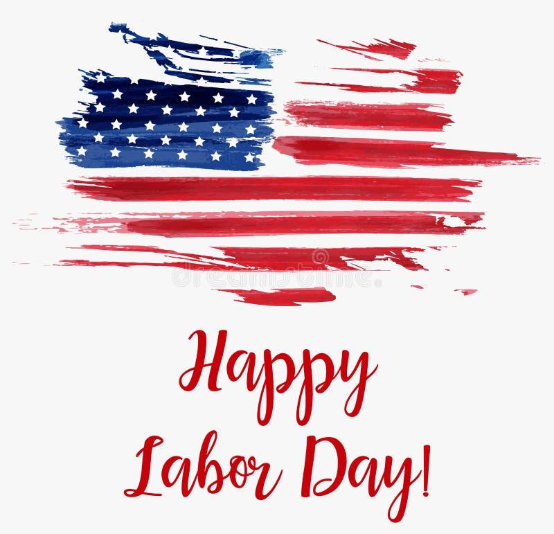 USA Labor day background vector illustration
