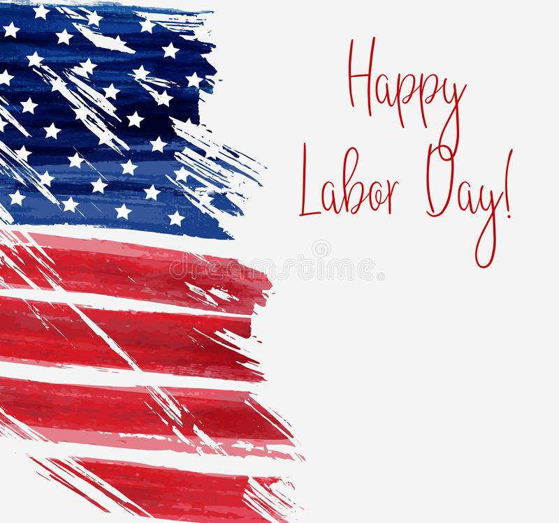 USA Labor day background stock illustration