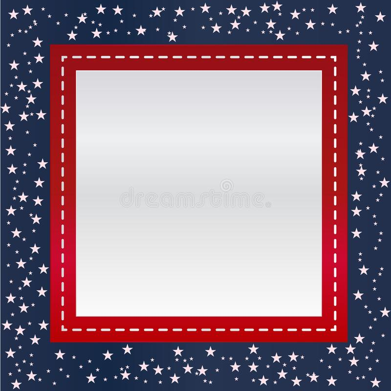 USA lampasów i gwiazd strony granica ilustracji