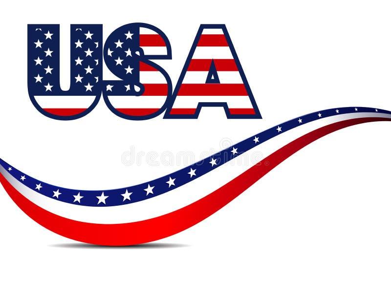 USA lampasów i gwiazd tło royalty ilustracja
