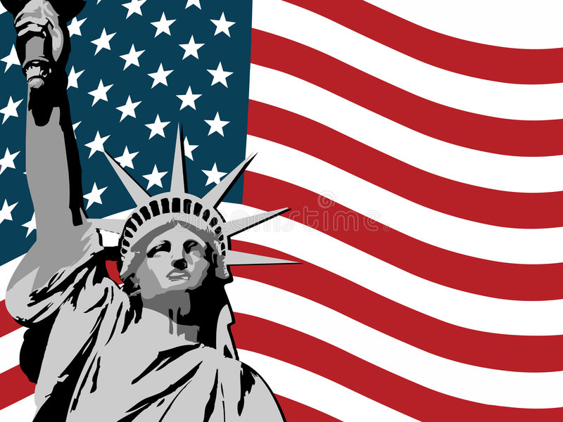 Download USA liberty background stock vector. Image of gradient - 7868835