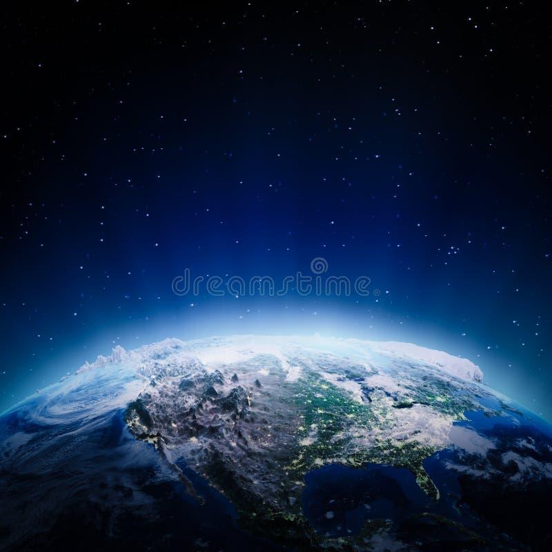 Download USA Lights At Night Stock Illustration - Image: 42997112