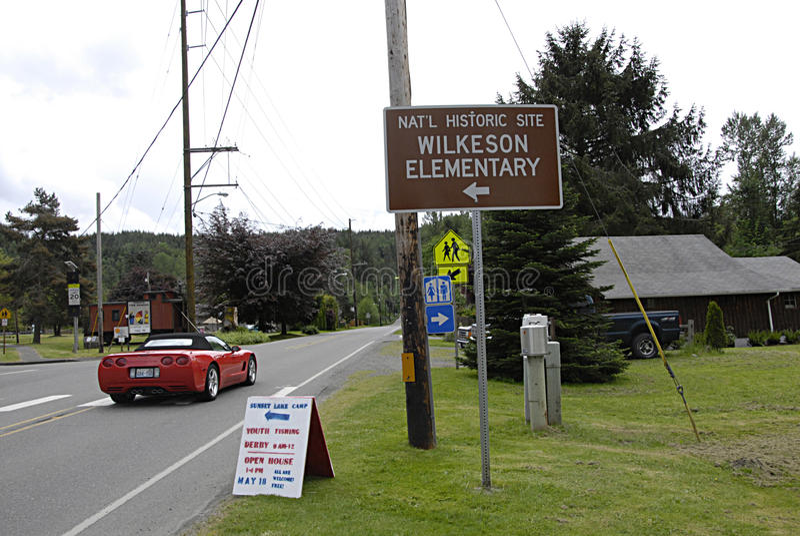 USA_Daily liv i Wilkeson royaltyfria bilder