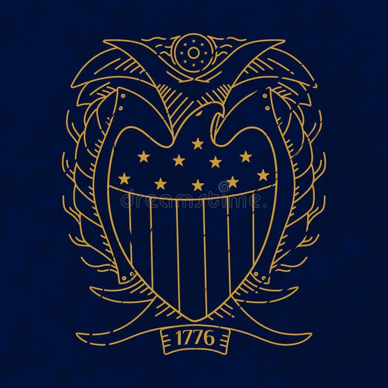 USA logo royalty ilustracja