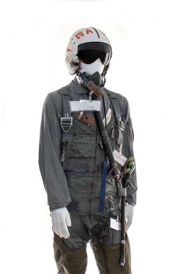 USA-Luftwaffendruckanzug für einen Piloten stockfoto