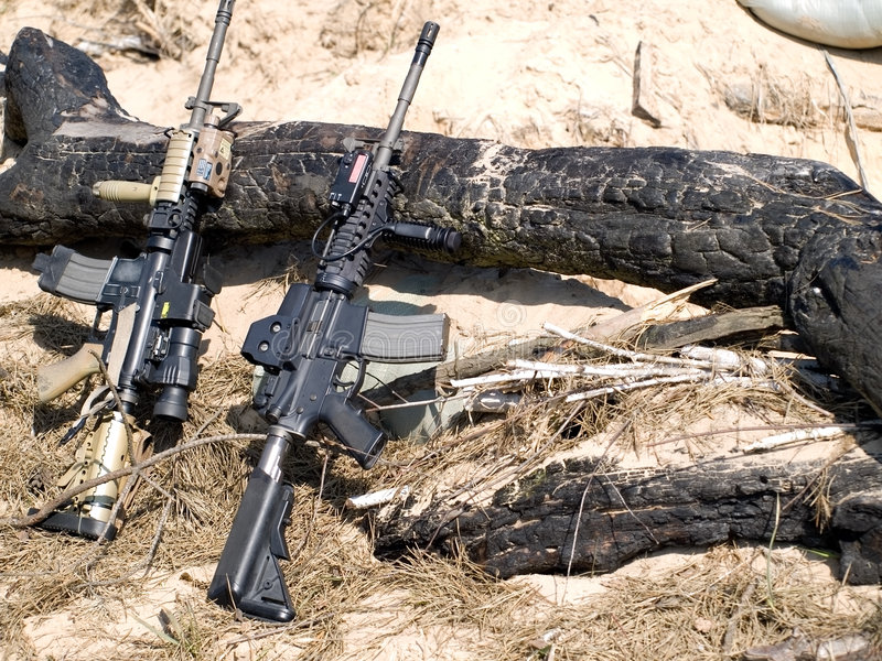 Download USA M4 Rifles stock photo. Image of soldier, american - 8757964