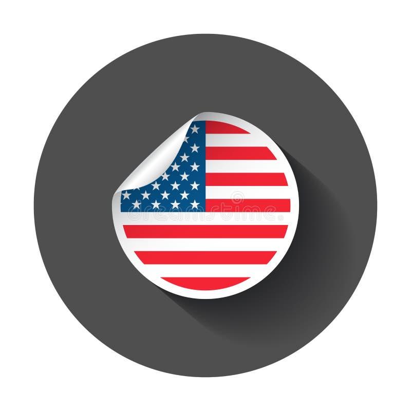 Usa majcher z flaga royalty ilustracja