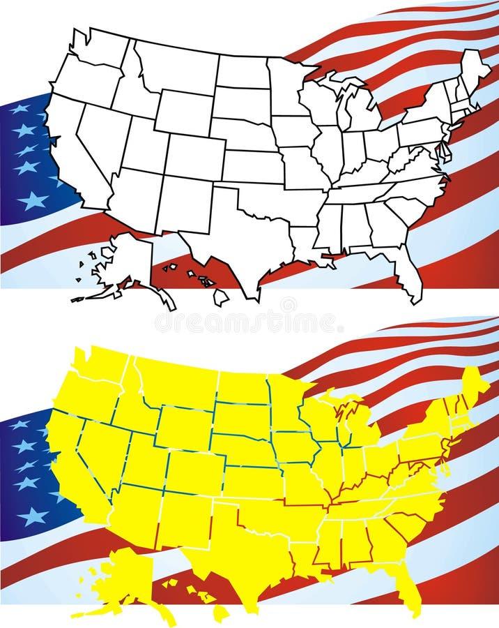 Download USA map stock illustration. Illustration of american - 10416187