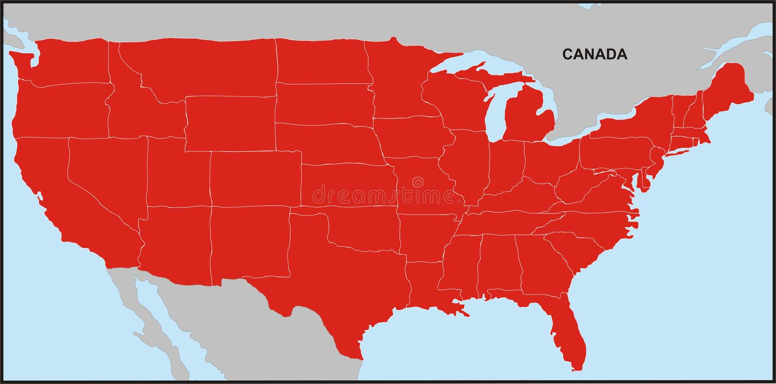 USA Map 2 Royalty Free Stock Image