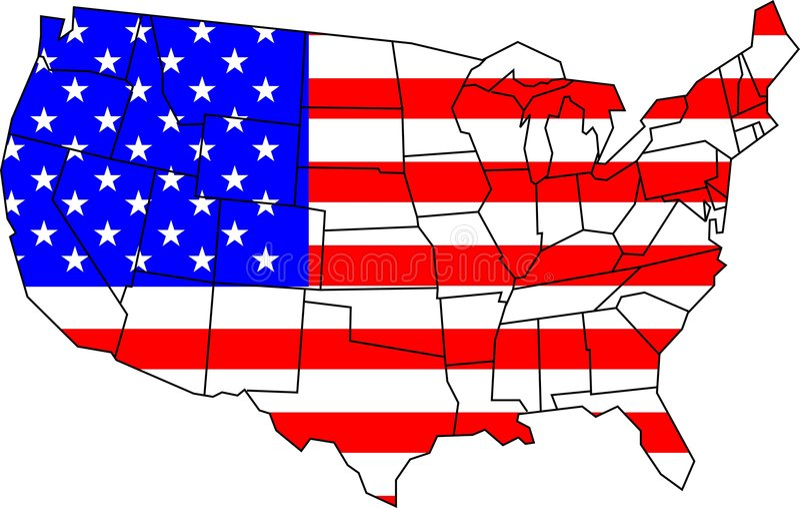 USA map royalty free stock image