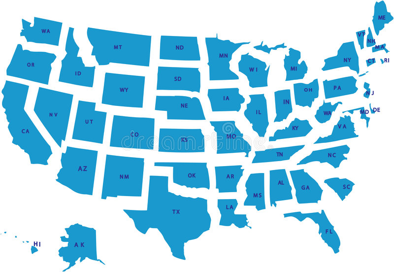 Download USA Map. Royalty Free Stock Images - Image: 7324219