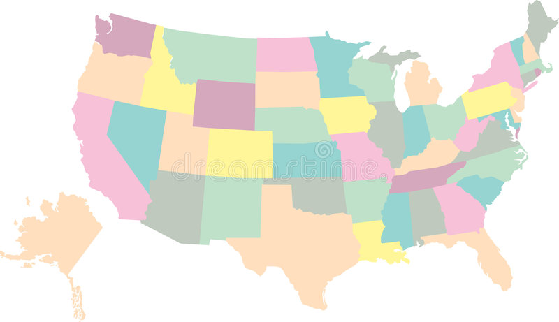 USA map. Map of the United States of America in Vectors