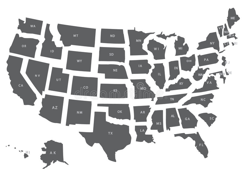 Download USA  map stock vector. Illustration of blue, america, montana - 7930368