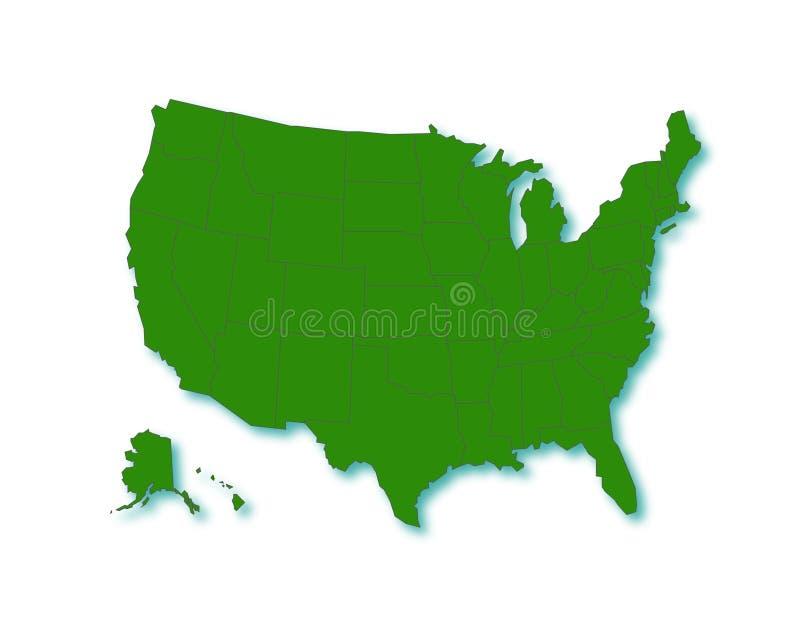 Download USA Map stock illustration. Illustration of graphic, hampshire - 7973188