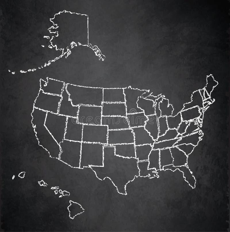 Usa map with alaska and hawaii blackboard chalkboard stock vector download usa map with alaska and hawaii blackboard chalkboard stock vector illustration of america gumiabroncs Gallery