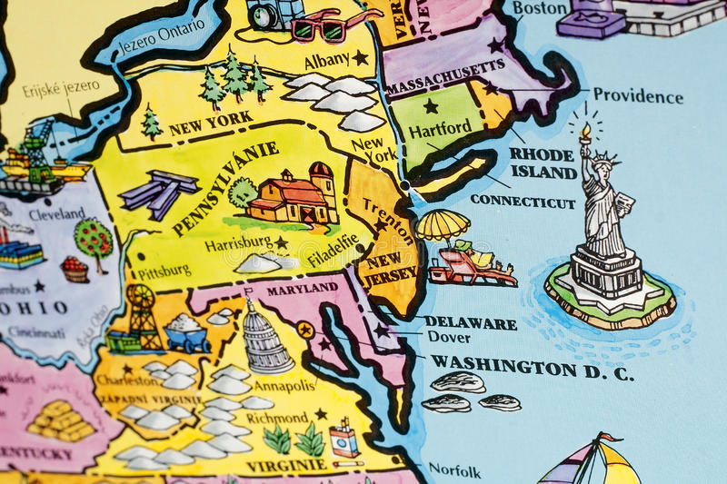 Map East Coast America Stock Photos - Download 59 Royalty ...