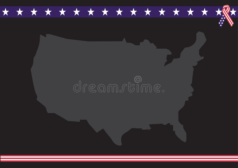 Download Usa Map With Flag Colors Stock Photo - Image: 2677770