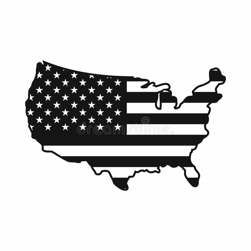 Usa Map Icon Simple Style Stock Vector Image Of Continent 81451460
