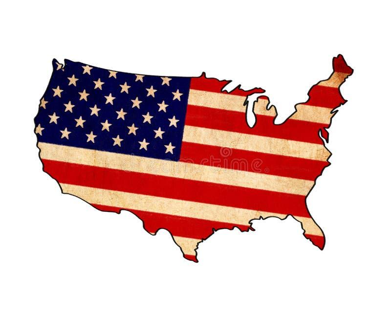 USA Map On USA Flag Drawing Stock Illustration Image - Drawing of usa map