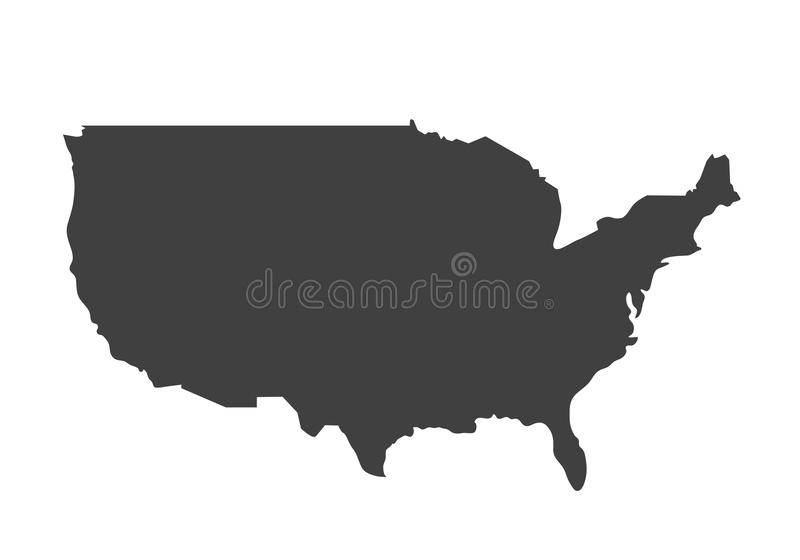 USA Map On White Background Stock Vector Image - Blank us map vector