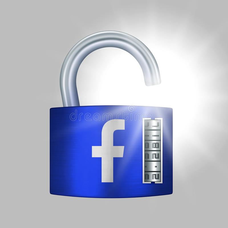 USA, 21 March 2018 - Facebook CEO, Mark Zuckerberg, admits a breach of trust between Facebook and the 2.2 billion people who share royalty free illustration