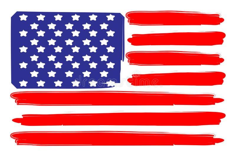 USA-Markierungsfahne lizenzfreie abbildung