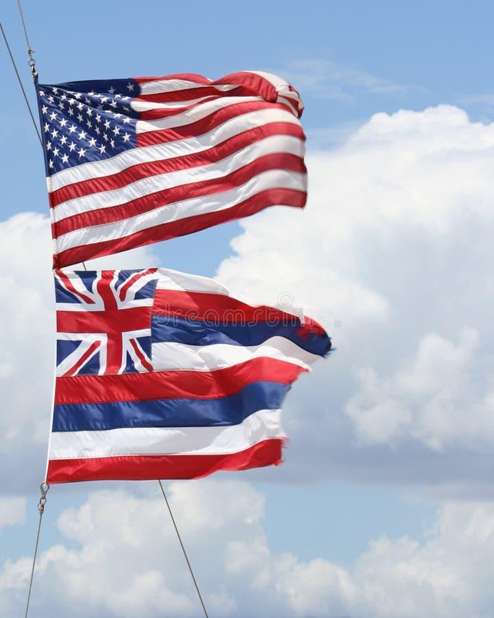 USA-Markierungsfahnen stockbilder