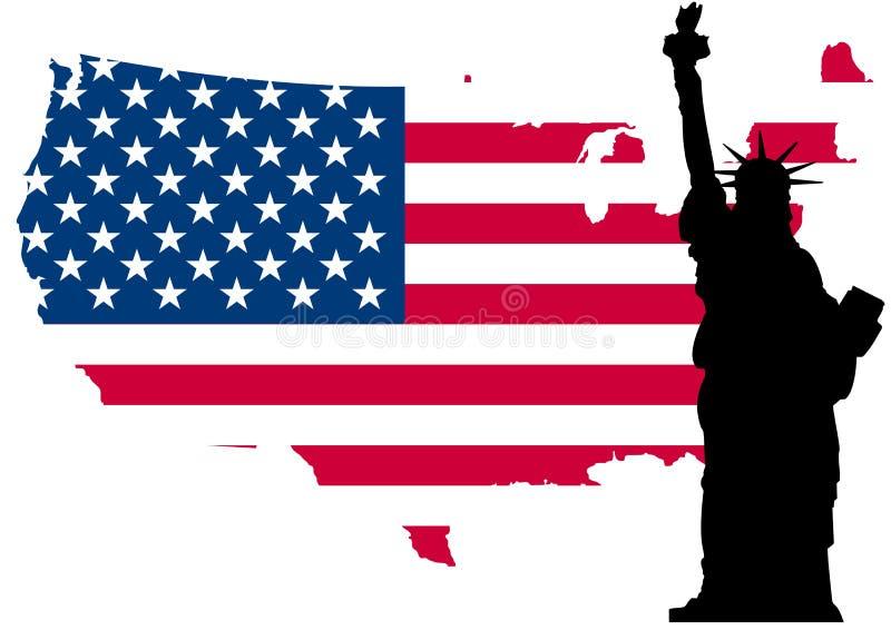 USA-Markierungsfahnenfreiheit lizenzfreie abbildung
