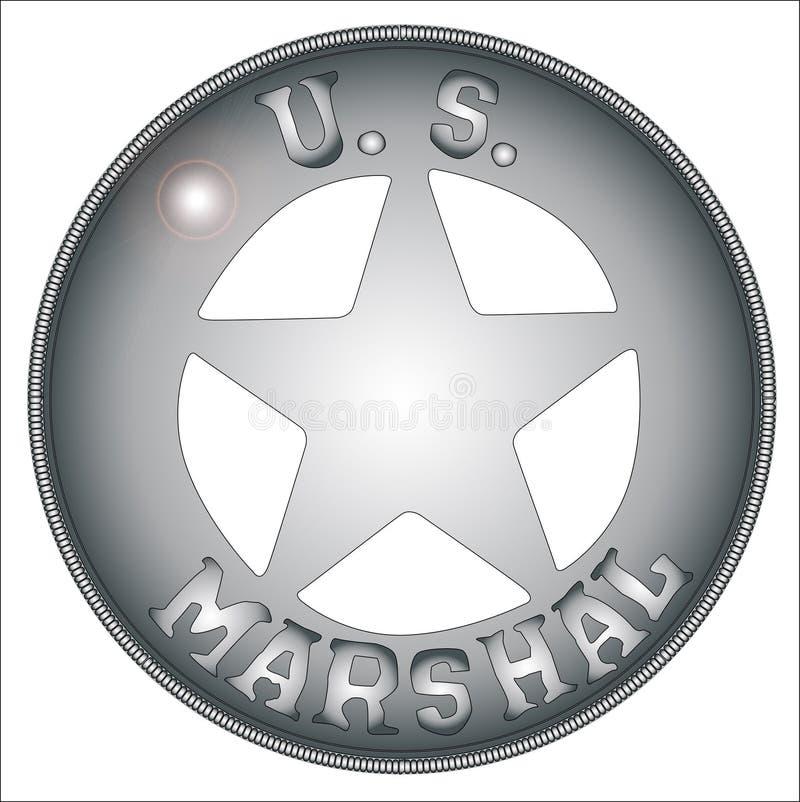 USA-marskalk Badge stock illustrationer