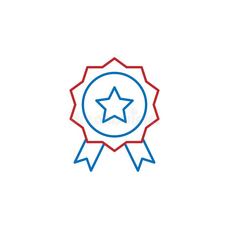 USA, medal icon. Element of USA culture icon. Thin line icon for website design and development, app development. Premium icon. On white background stock illustration