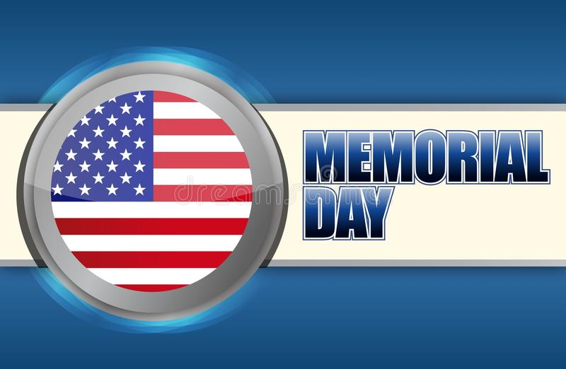 Download USA Memorial day sign stock illustration. Image of clipart - 28835984