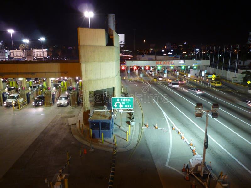 USA Mexico border stock photography