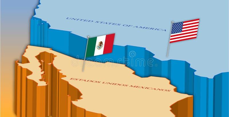 Mexico Border Map Stock Illustrations – 2,239 Mexico Border ...