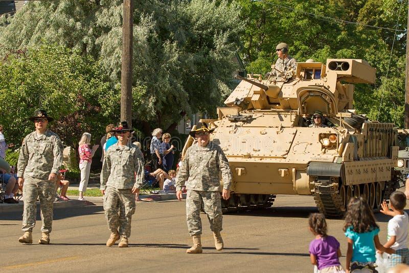 USA-militären ståtar på arkivfoto