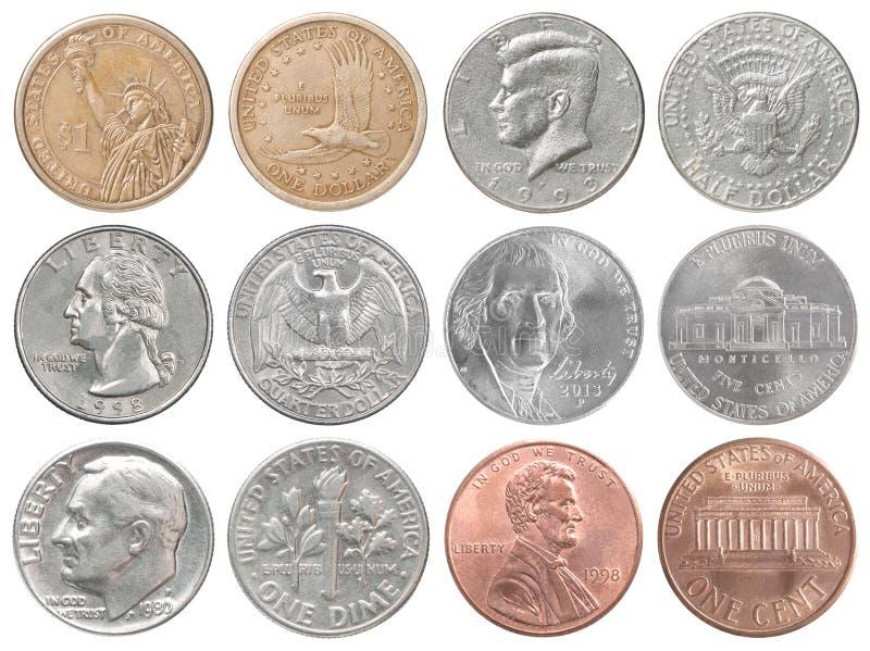 USA-myntsamling royaltyfri foto