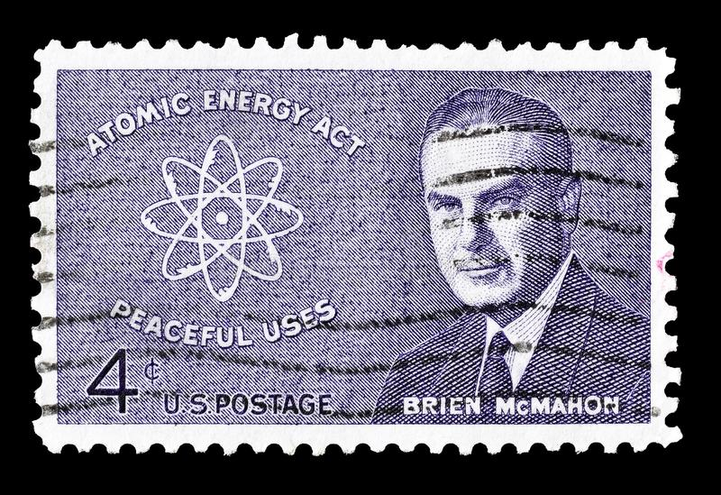 USA na znaczku pocztowym fotografia royalty free