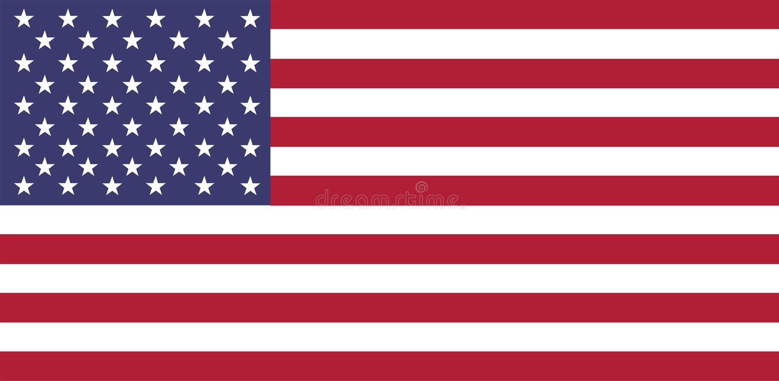 usa national tradional flag blue red white royalty free illustration