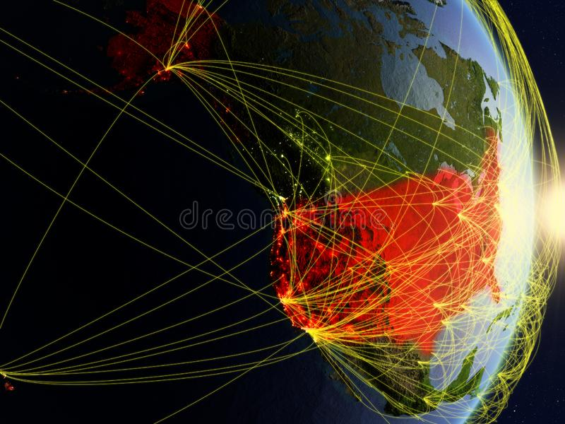 USA on networked planet Earth royalty free stock images
