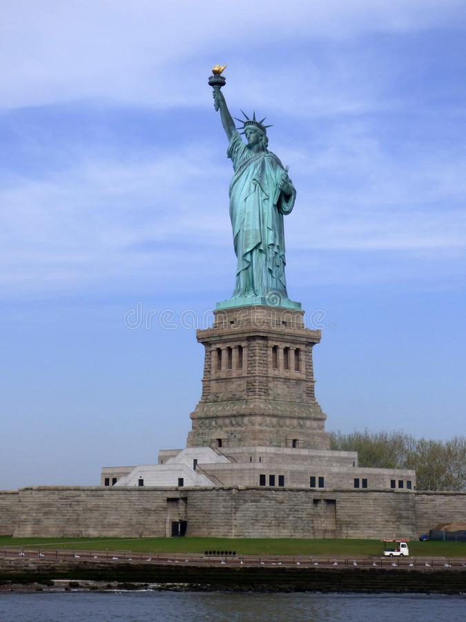 USA New York city liberty newyork statue sunset arkivbild