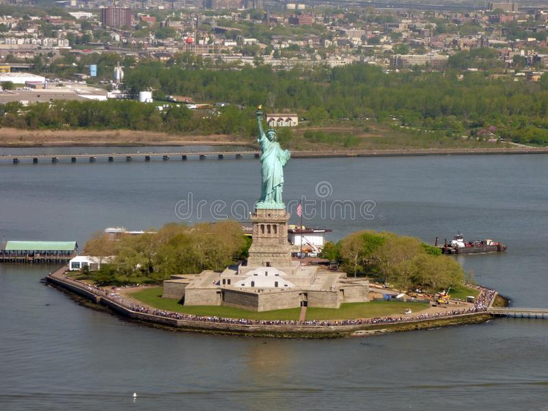 USA New York city liberty newyork statue sunset arkivfoton
