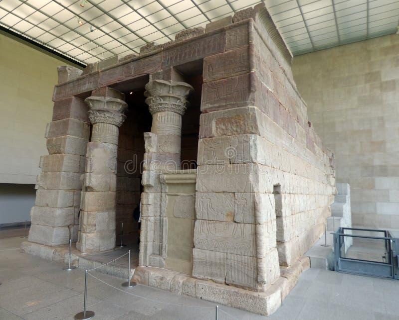 USA New York Storstads- konstmuseum Tempel av Dendur royaltyfri fotografi