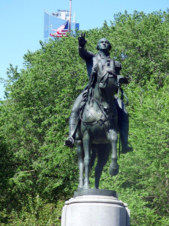 USA New York Union Square Statue von George Washington lizenzfreie stockfotografie