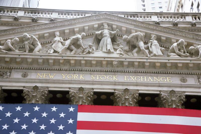 USA, New York, Wallstreet, Börse stockbild