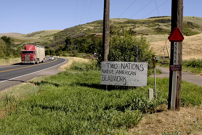 USA_NEZ PERCES INDIAN RESERVATION IN USA royalty free stock photo