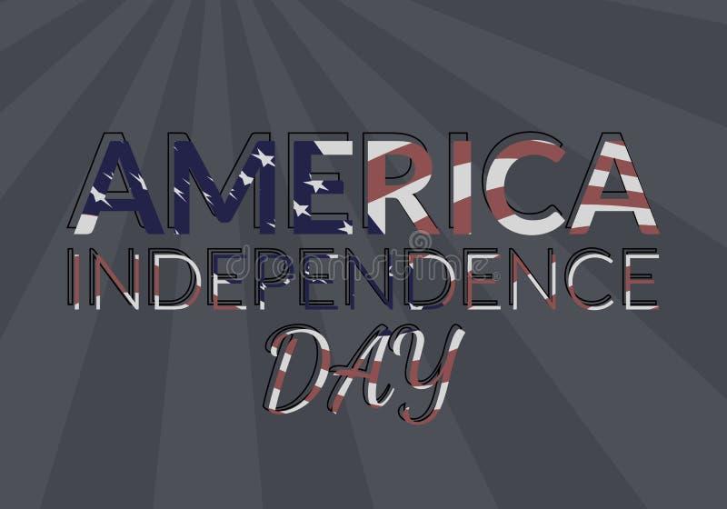 USA niezależność ilustracji