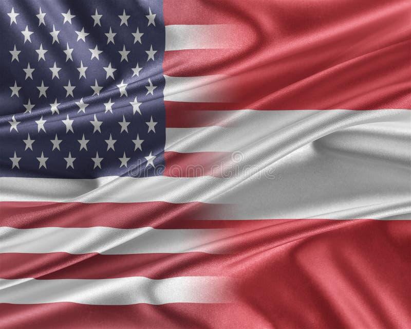 USA och Österrike royaltyfri illustrationer